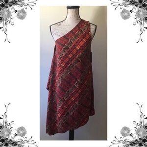 {Vince Camuto} One Shoulder Asymmetrical Dress